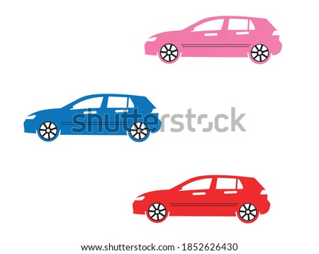 isolated, coloring book cars, with examples of how to paint, Flat cars set,car icons,Cars set illustration icon isolated, new vector car, new car design, new car icon,Rental Cars, Car design
