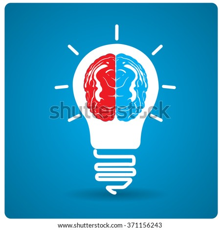 Isolated conceptual lightbulb on a blue background
