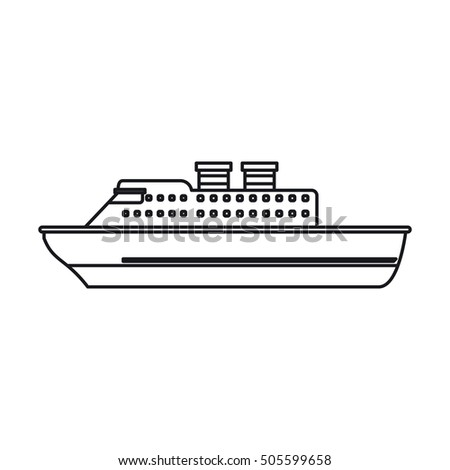 Isolated cruise ship design
