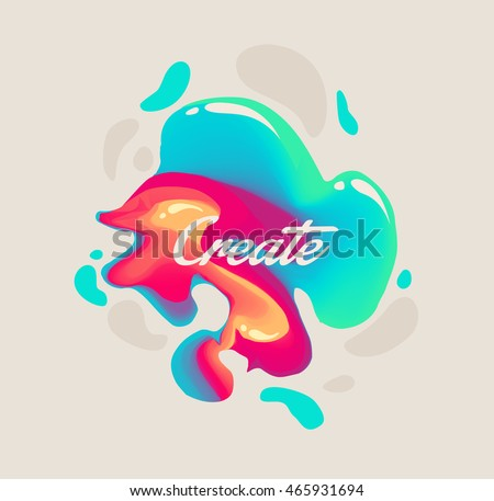 isolated cute abstract liquid