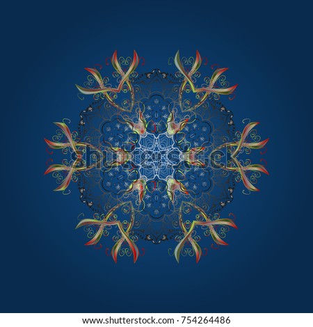 isolated cute snowflakes on