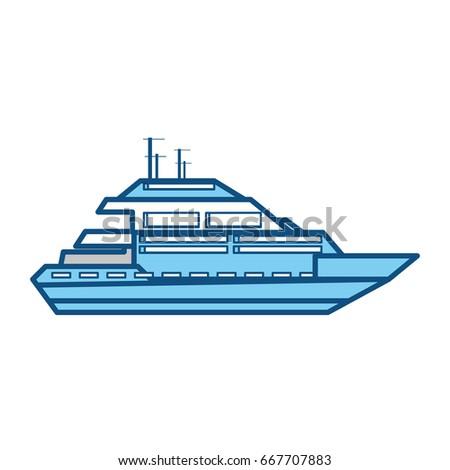 isolated cute yacht