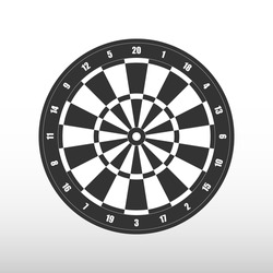 Isolated Darts board. Vector illustration