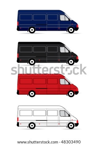 Isolated Delivery Vans