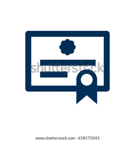 Isolated Diploma Icon Symbol On Clean Background. Vector Certificate Element In Trendy Style.