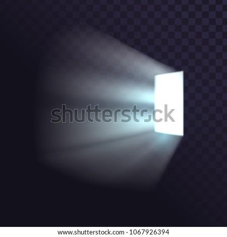 isolated door from a dark room