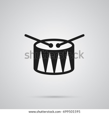 isolated drum icon symbol on