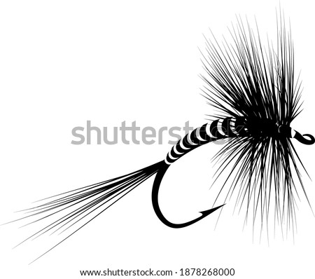 isolated dry fly - fly fishing lure Сток-фото ©