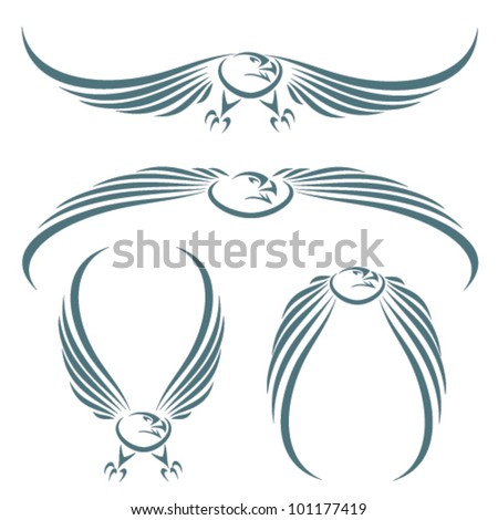 Isolated eagle - vector illustration