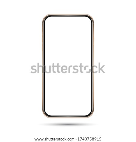 isolated empty cell phone