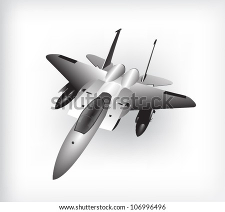 isolated fighter plane