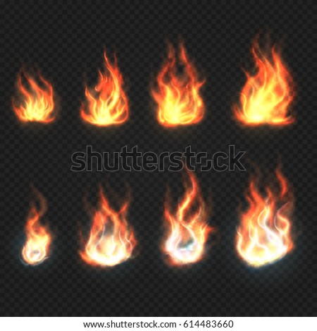isolated fire flames  power and