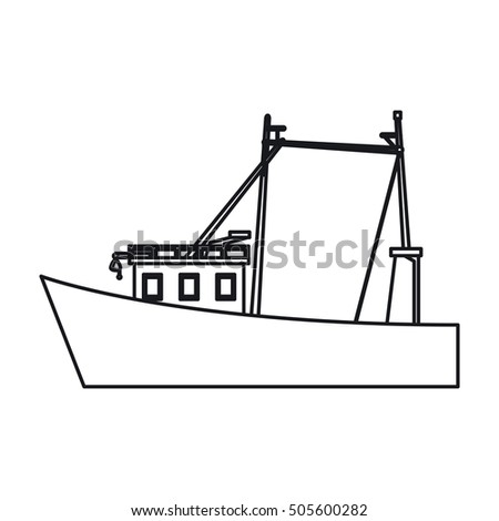 Isolated fishing boat design
