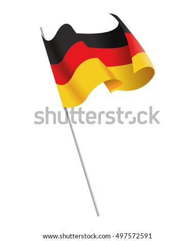 isolated flag of germany design