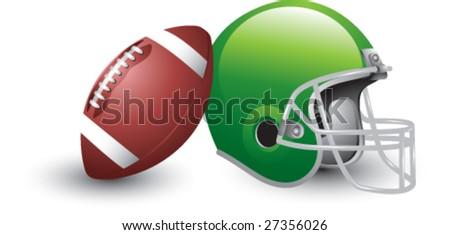 isolated football and helmet