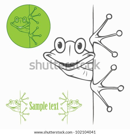 Isolated frog label