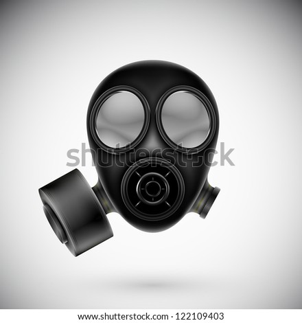 isolated gas mask eps 10