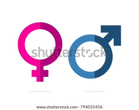 isolated gender  pink women and ...