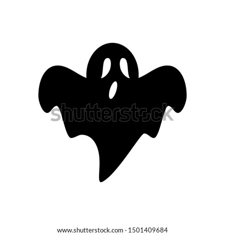 Isolated ghost icon on a White Background. Ghost vector icon, Emotion Variation. Simple flat style design elements. Creepy horror images.