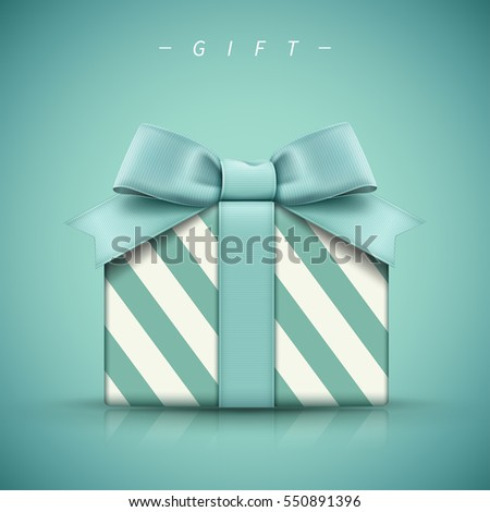 Isolated gift box with ribbon. Vector illustration