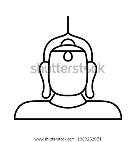 Isolated golden buda religious icon Foto stock ©