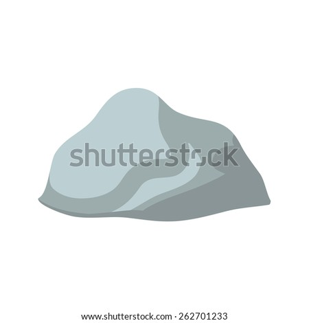 isolated grey stone on white