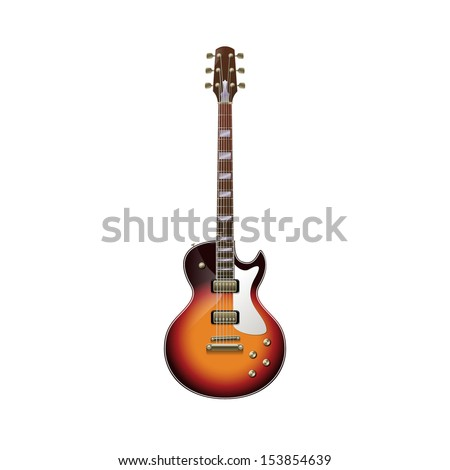 isolated guitar  eps10 vector