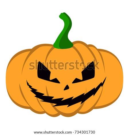 isolated halloween jack o