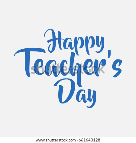 isolated happy teachers day