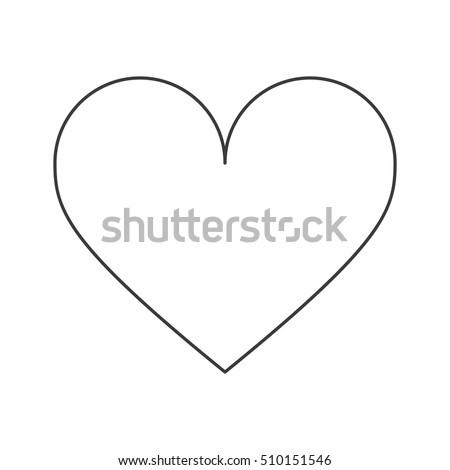 isolated heart shape design