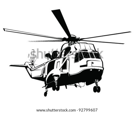 isolated helicopter vector