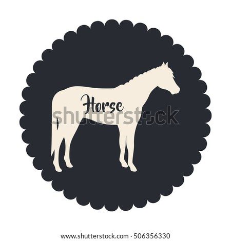 Isolated horse livestock animal design