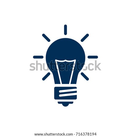 Isolated Idea Icon Symbol On Clean Background. Vector Bulb Element In Trendy Style.
