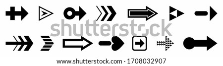 isolated illustration of a arrow shapes, black  drawing, white background