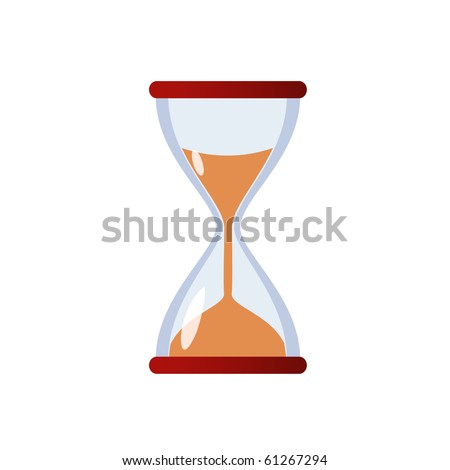 Isolated illustration of hourglass