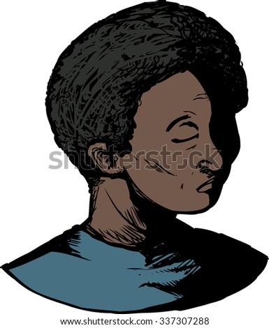 isolated illustration of single
