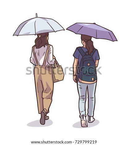 isolated illustration of women