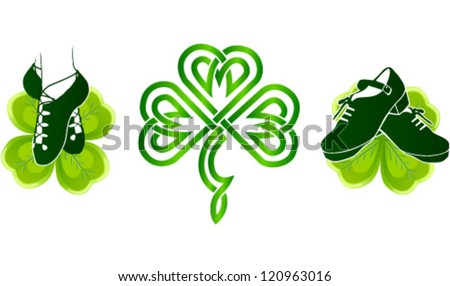 isolated irish dancing shoes on