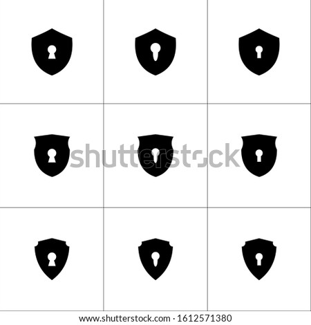 isolated keyhole protection symbols symbol symbols illustration - Collection of high quality black style vector icons