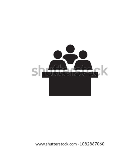 Isolated lecture hall icon symbol on clean background. Vector conference element in trendy style.