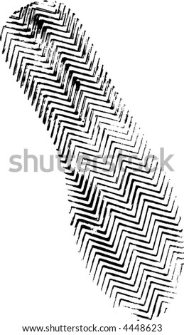 Isolated Left Plimsole Print - Highly detailed vector of a walking shoe