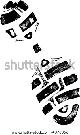 Isolated Left ShoePrint 2 - Highly detailed vector of a walking shoe