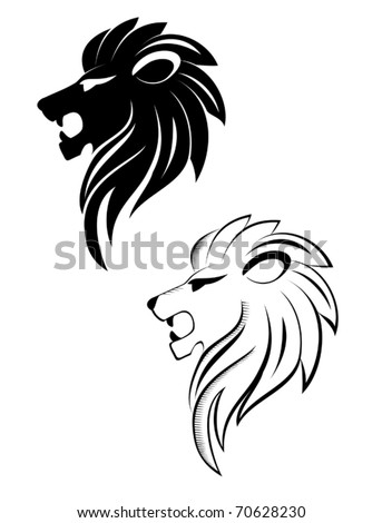 Isolated lion head as a symbol or sign also as emblem Jpeg version also available