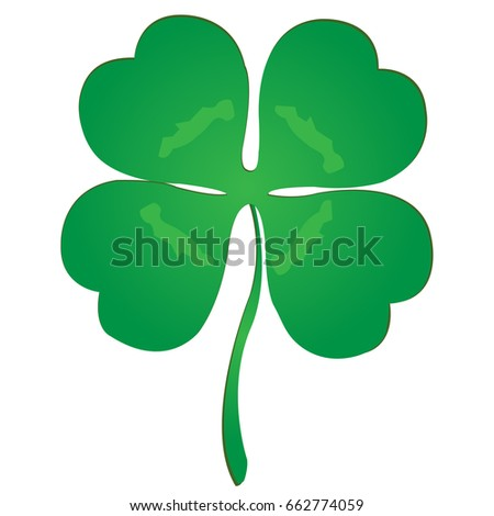 Isolated luck clover vector for Saint patrick