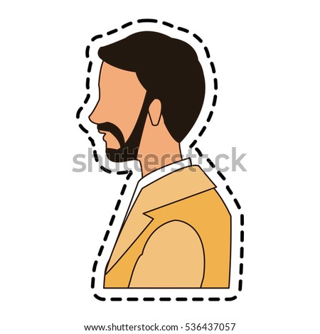 Isolated man cartoon design