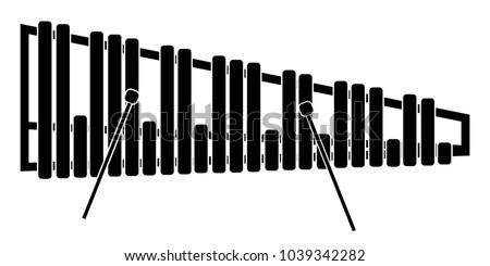 Isolated marimba icon. Musical instrument
