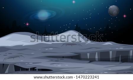 isolated mars space scene