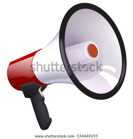 isolated megaphone. vector design