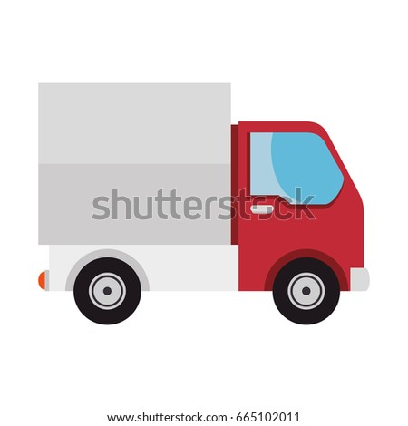 isolated merchandise truck