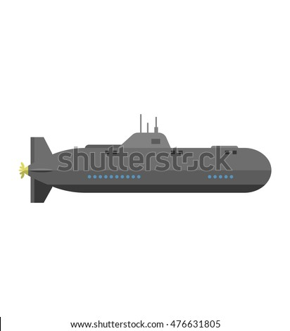 isolated military submarine old